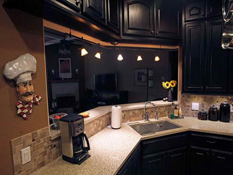 Black kitchen cabinets ideas home furniture design for Black kitchen cabinets