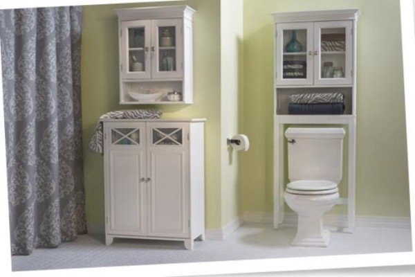 Bathroom storage cabinets over
