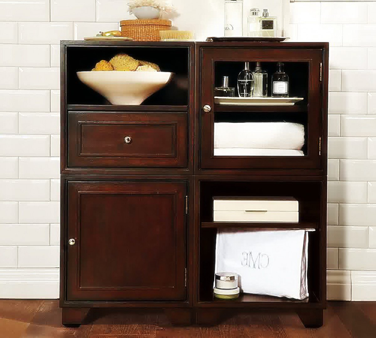 Bathroom storage cabinets floor home furniture design for Bathroom storage cabinets floor