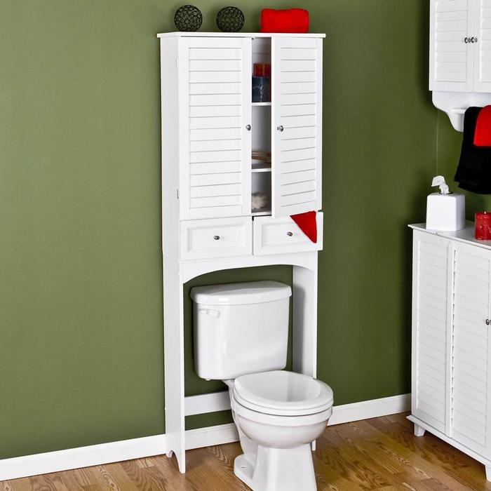Cool  And Shelves On The Wall Over The Toilet For More Extra Space Source