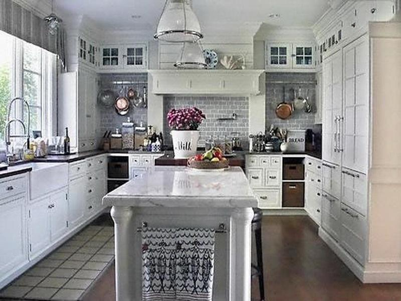 Grey And White Kitchen Design Ideas ~ Best white paint for kitchen cabinets home furniture design