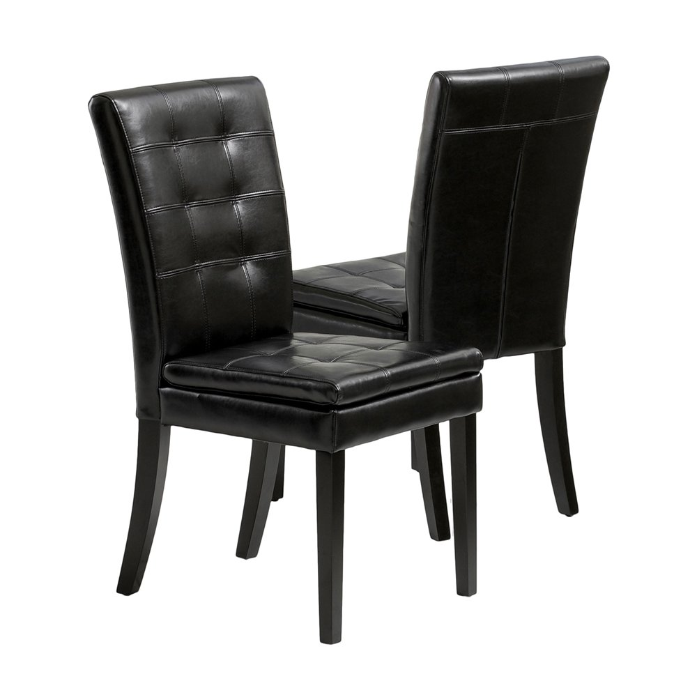 black leather dining room chairs home furniture design. Black Bedroom Furniture Sets. Home Design Ideas