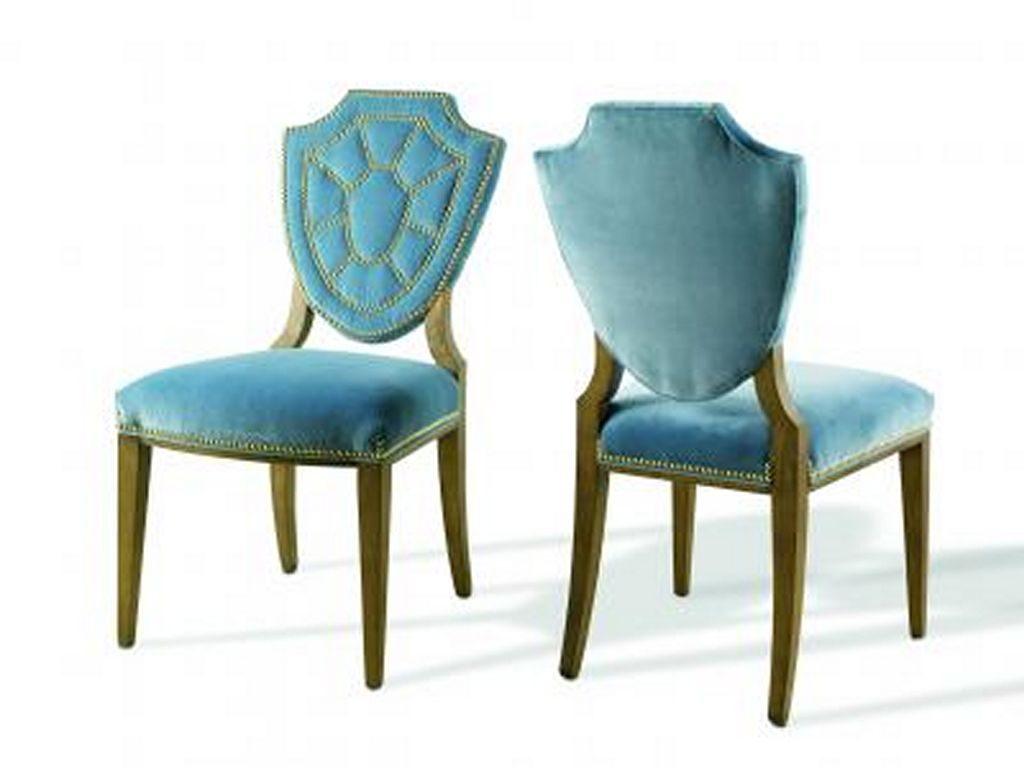 Blue leather dining chairs home furniture design for Dining furniture design