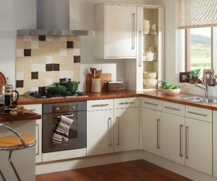 Pics of kitchens with white cabinets home furniture design for Cheap white kitchen units