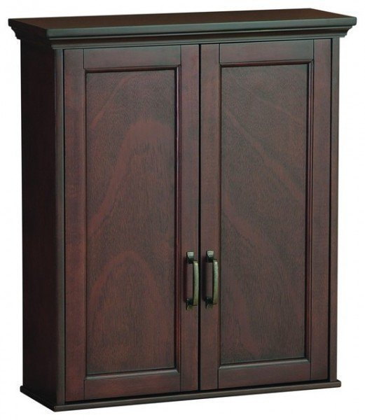 Cherry bathroom wall cabinet home furniture design for In wall bathroom storage