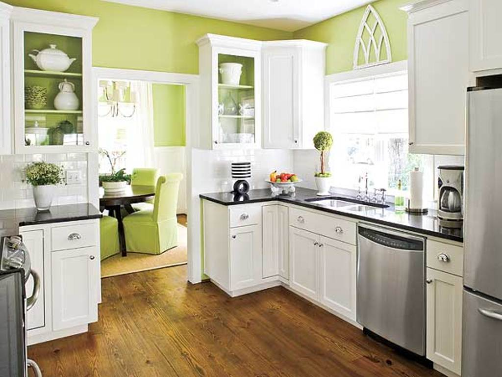diy painting kitchen cabinets white home furniture design ForKitchen Colours With White Cabinets
