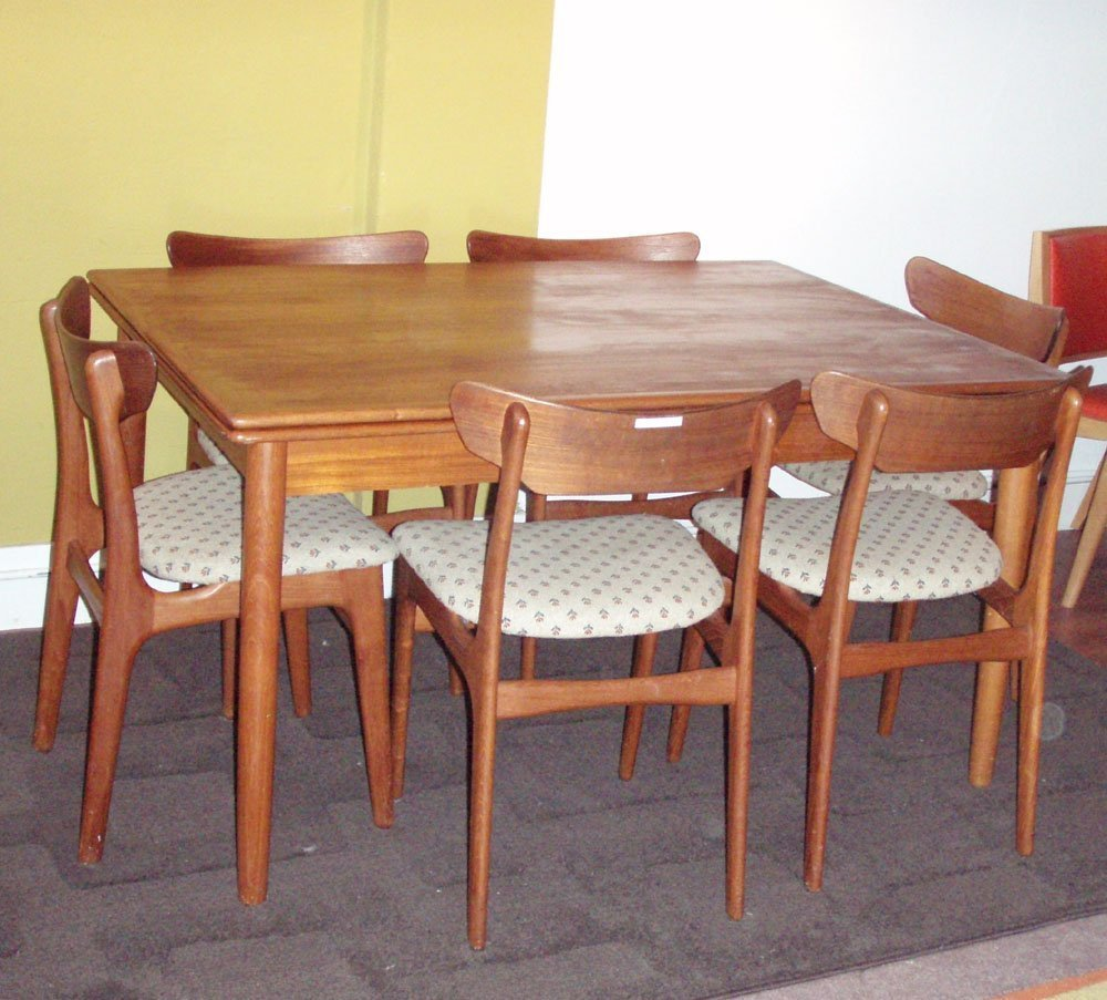 Danish modern dining room chairs home furniture design Contemporary dining room sets with benches
