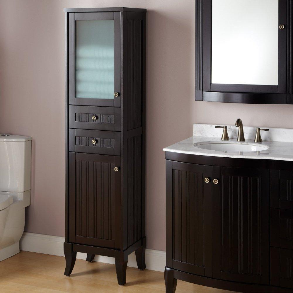 terrific bathroom storage cabinet | Espresso Bathroom Storage Cabinet - Home Furniture Design