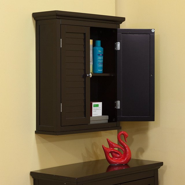 Espresso bathroom wall cabinet home furniture design for In wall bathroom storage