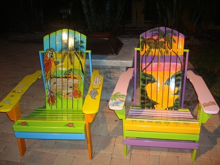hand painted adirondack chairs home furniture design
