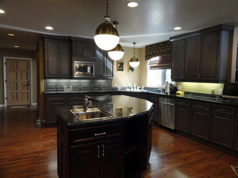 Kitchen Colors with Dark Cabinets Home Furniture Design