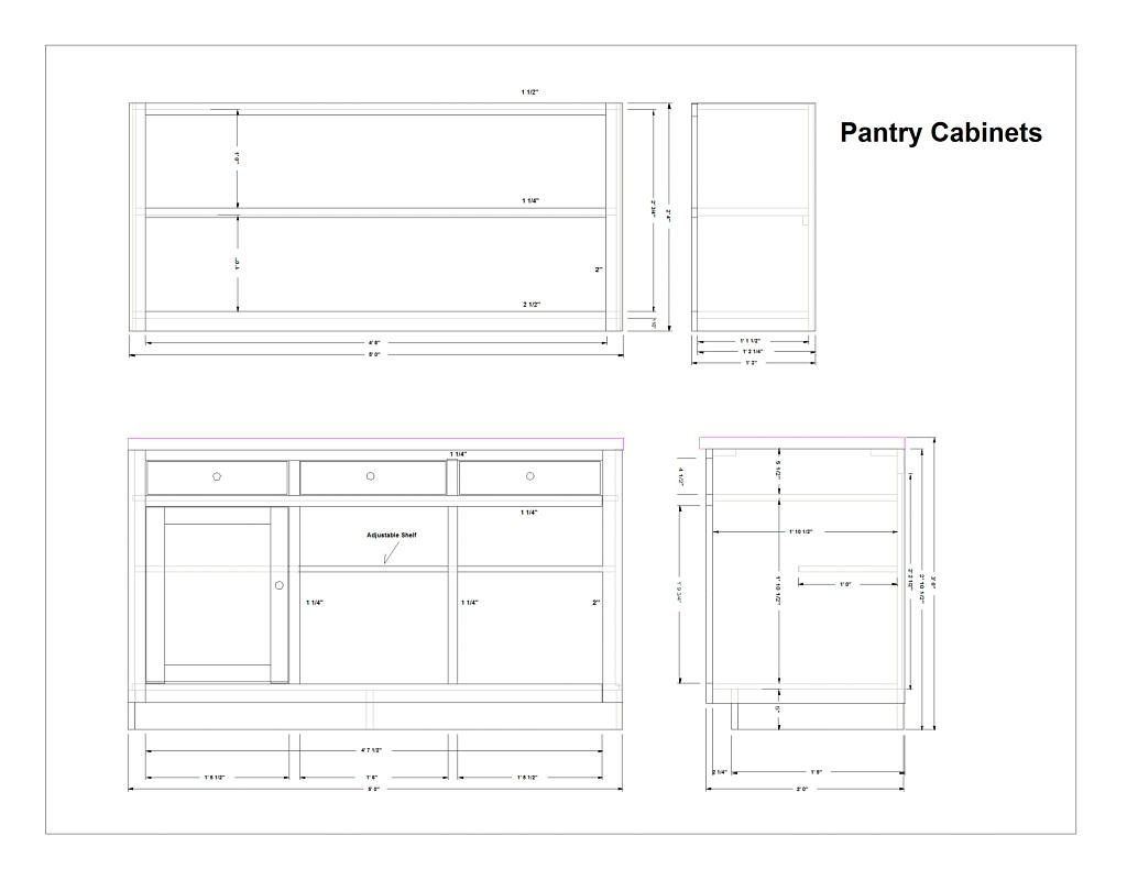 Kitchen pantry cabinet plans home furniture design Cabinets plans