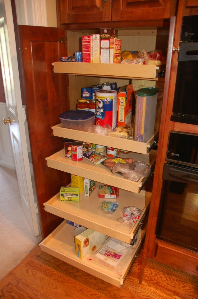 Kitchen pantry cabinet with pull out shelves home for Pull out drawers for kitchen cabinets