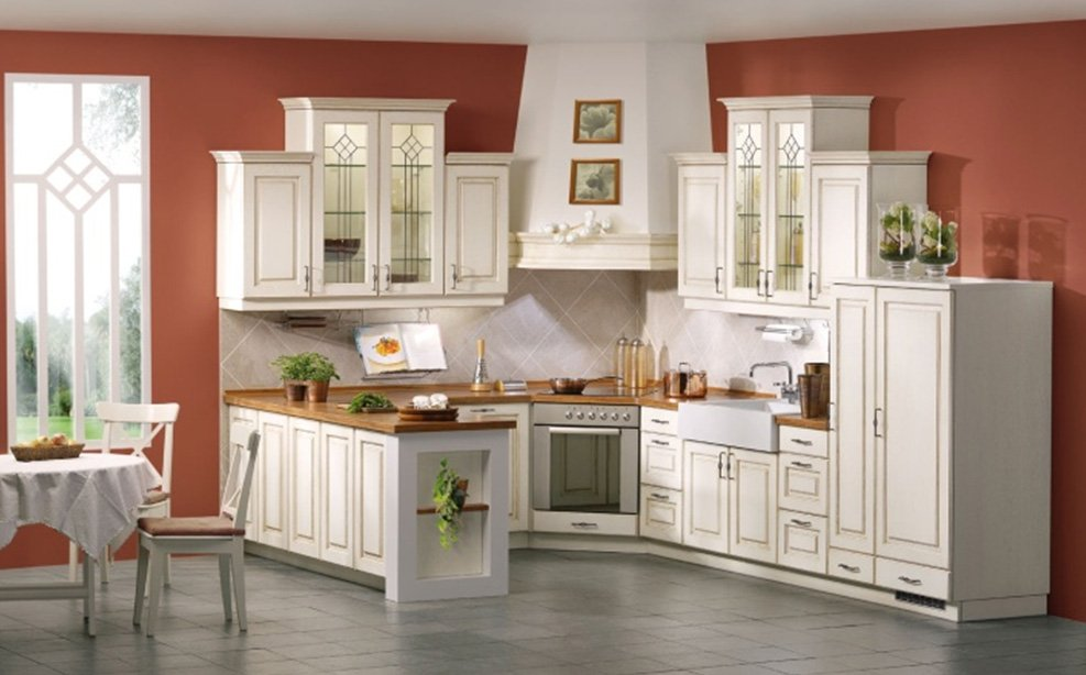 Kitchen wall colors with white cabinets home furniture for Kitchen ideas white cabinets red walls