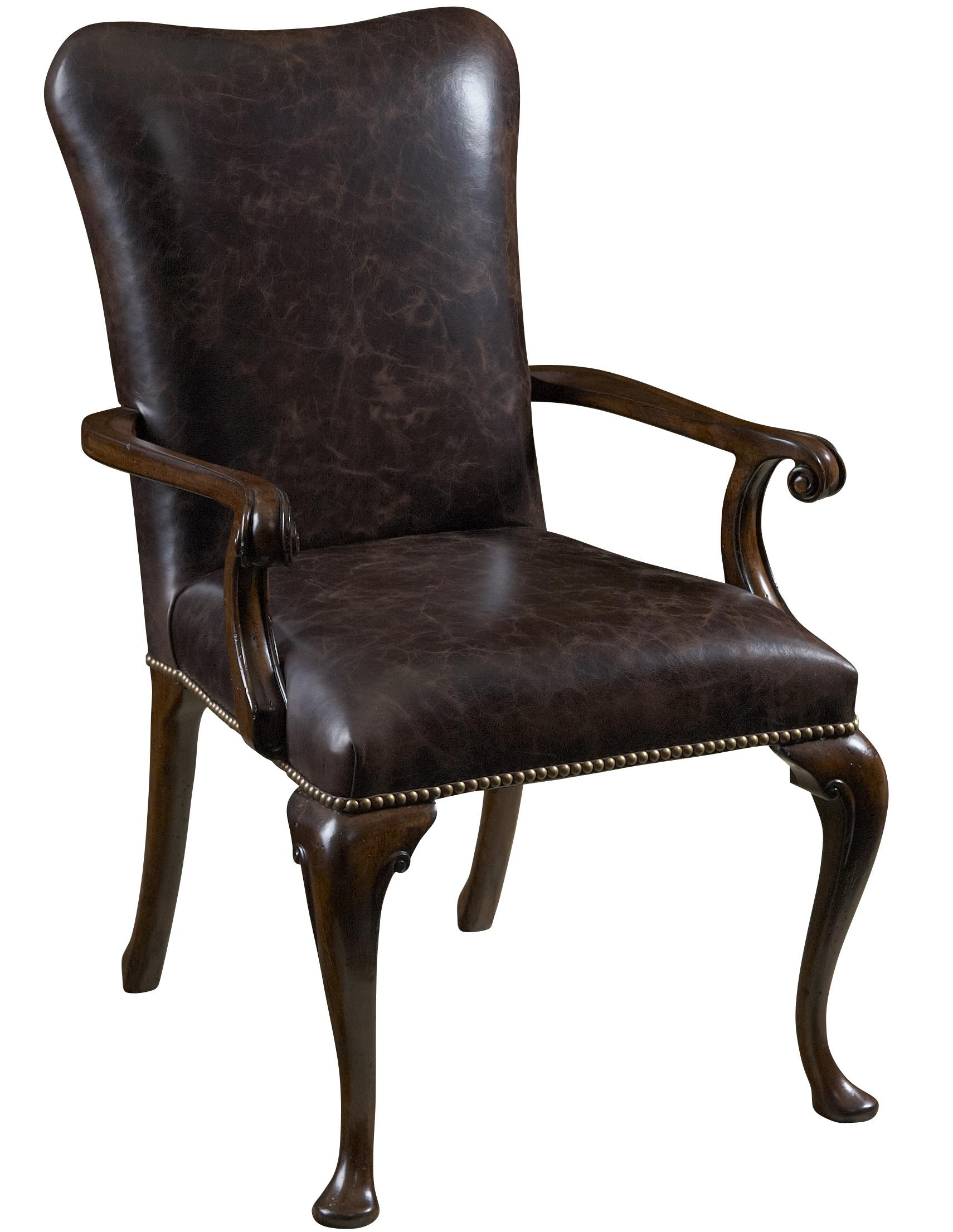 Leather dining room chairs with arms home furniture design for Dining room chairs with arms