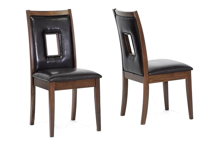 Leather dining room chairs home furniture design - Dining room furniture benches ideas ...