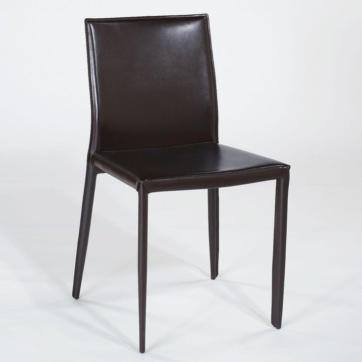 Modern leather dining chairs home furniture design for Modern leather dining room chairs