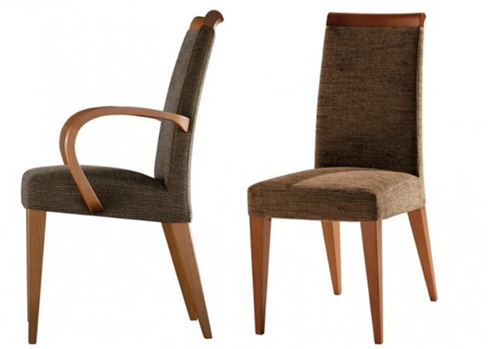 Modern upholstered dining room chairs with arms home for Modern dining room chairs