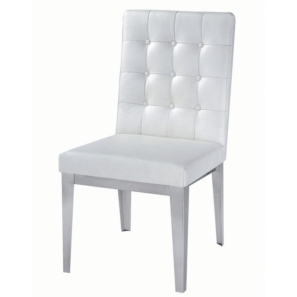Modern White Leather Dining Chairs Home Furniture Design