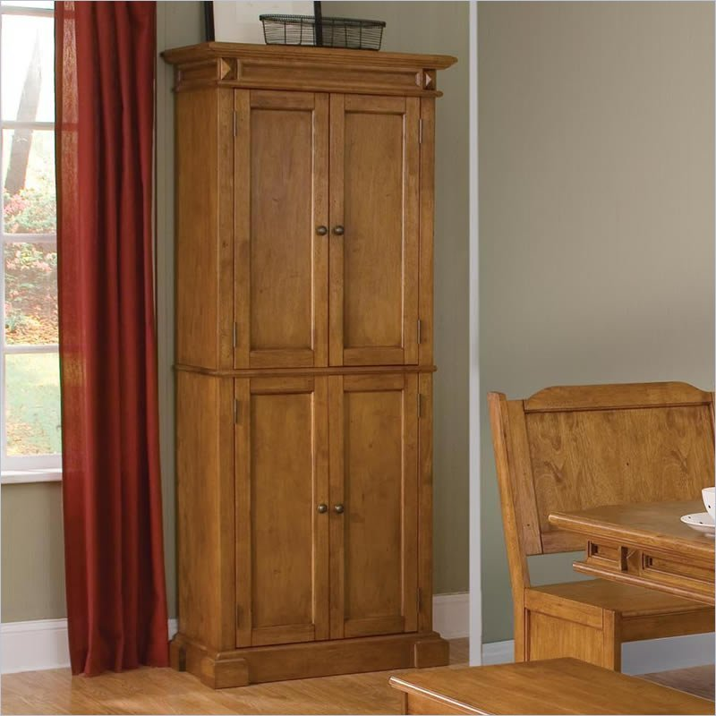 Oak kitchen pantry cabinet home furniture design - Bathroom pantry cabinets ...