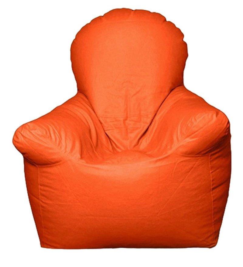 Orange Bean Bag Chair Home Furniture Design