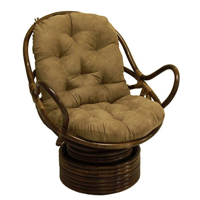 Papasan Swivel Rocker Chair Home Furniture Design