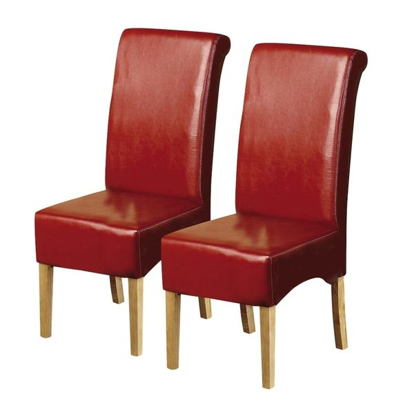 Red Leather Dining Chairs Home Furniture Design