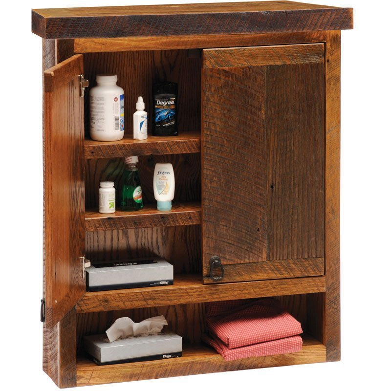 Rustic Bathroom Wall Cabinets Home Furniture Design
