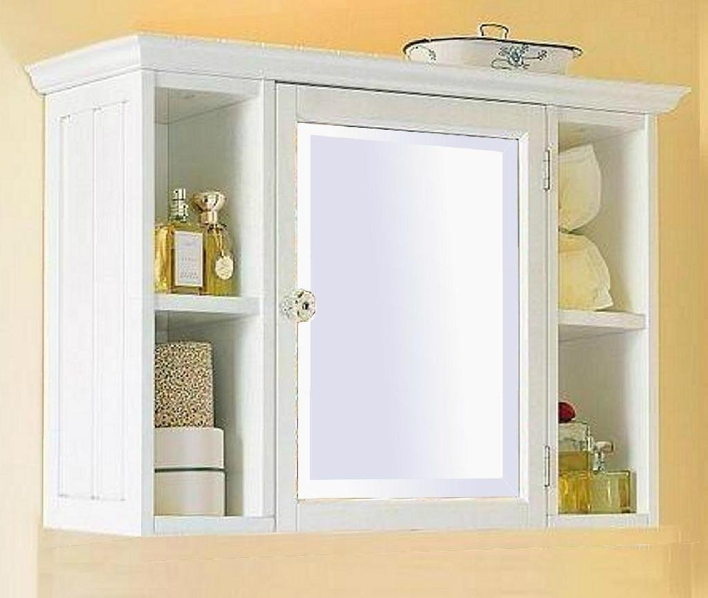 Small White Bathroom Wall Cabinet with Shelf - Home ...