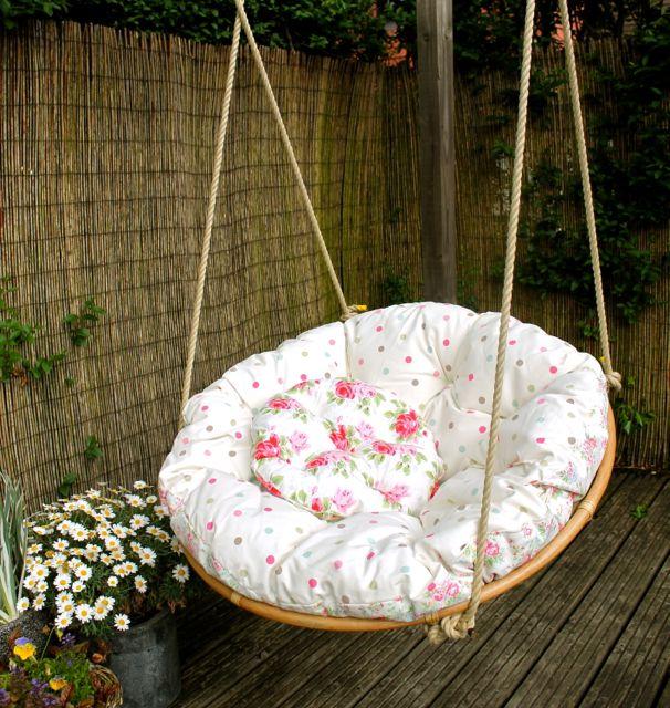 Swinging Papasan Chair Home Furniture Design
