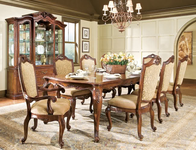 Traditional dining room chairs home furniture design for Traditional dining room