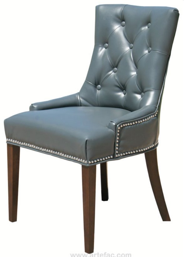 Tufted leather dining chair home furniture design for Tufted leather dining room chairs