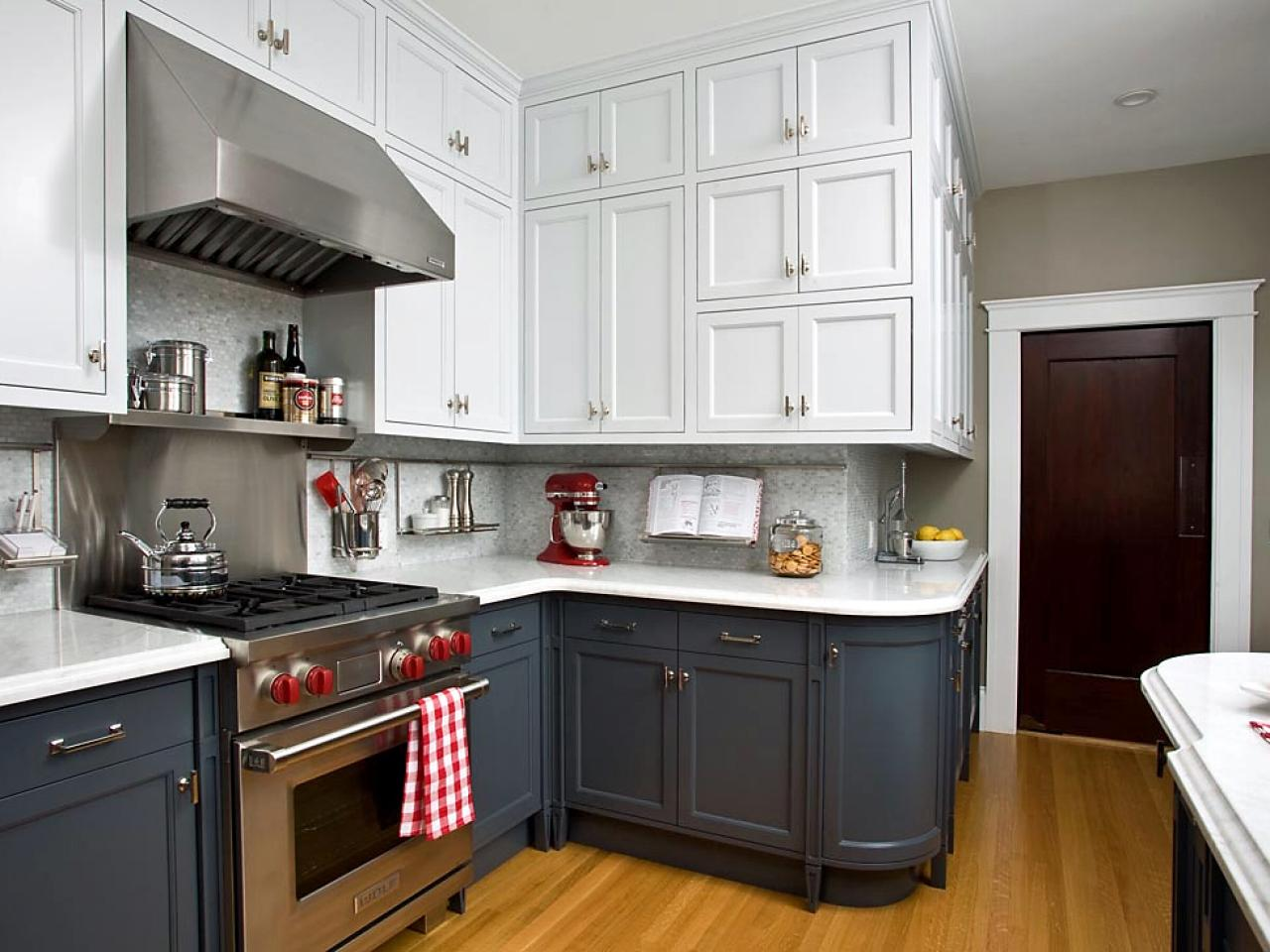 Two color kitchen cabinets home furniture design for Painting your kitchen cabinets