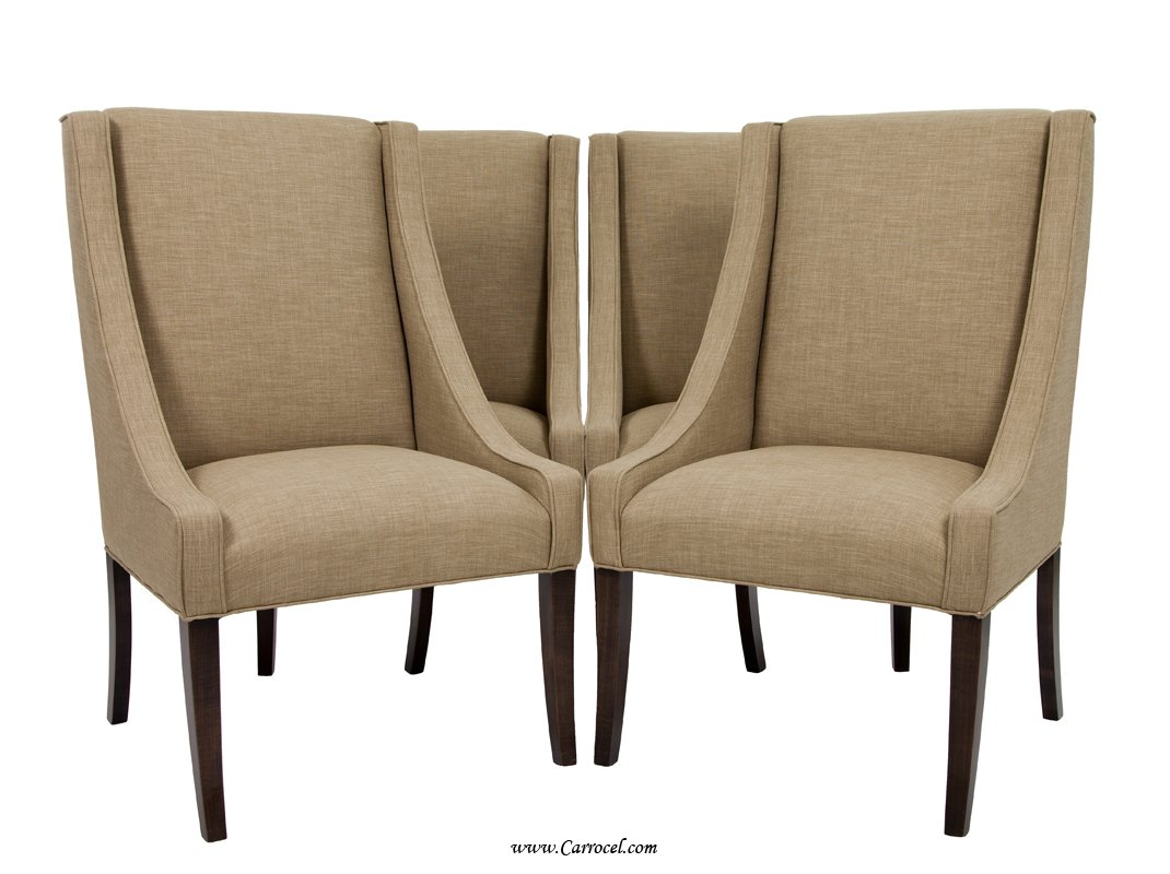 Upholstered parsons dining chairs home furniture design for Upholstered accent chairs cheap