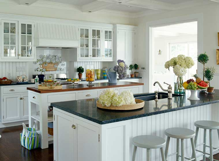 White Beadboard Kitchen Cabinets Home Furniture Design