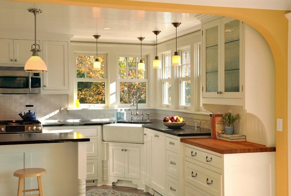White Corner Kitchen Cabinet
