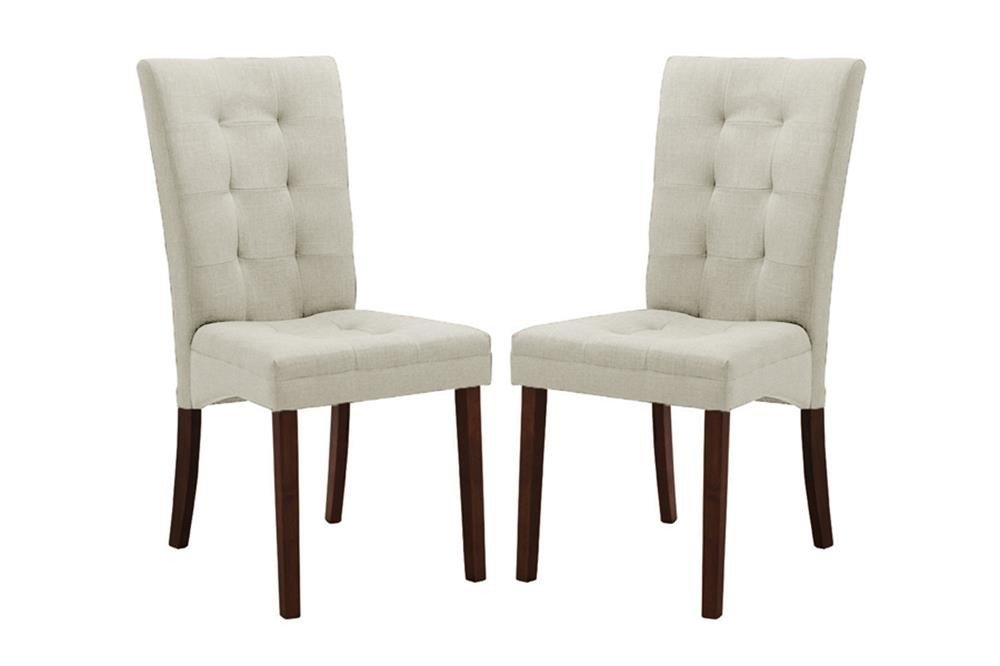 White fabric dining room chairs home furniture design for Modern dining room chairs