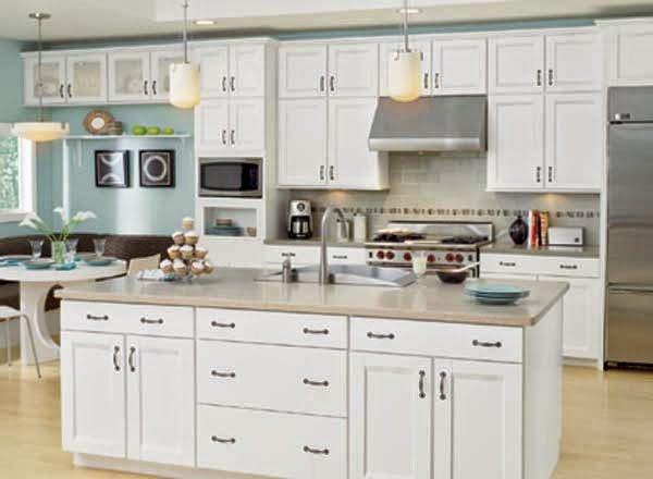 White kitchen cabinets photos home furniture design for Kitchen design 43055