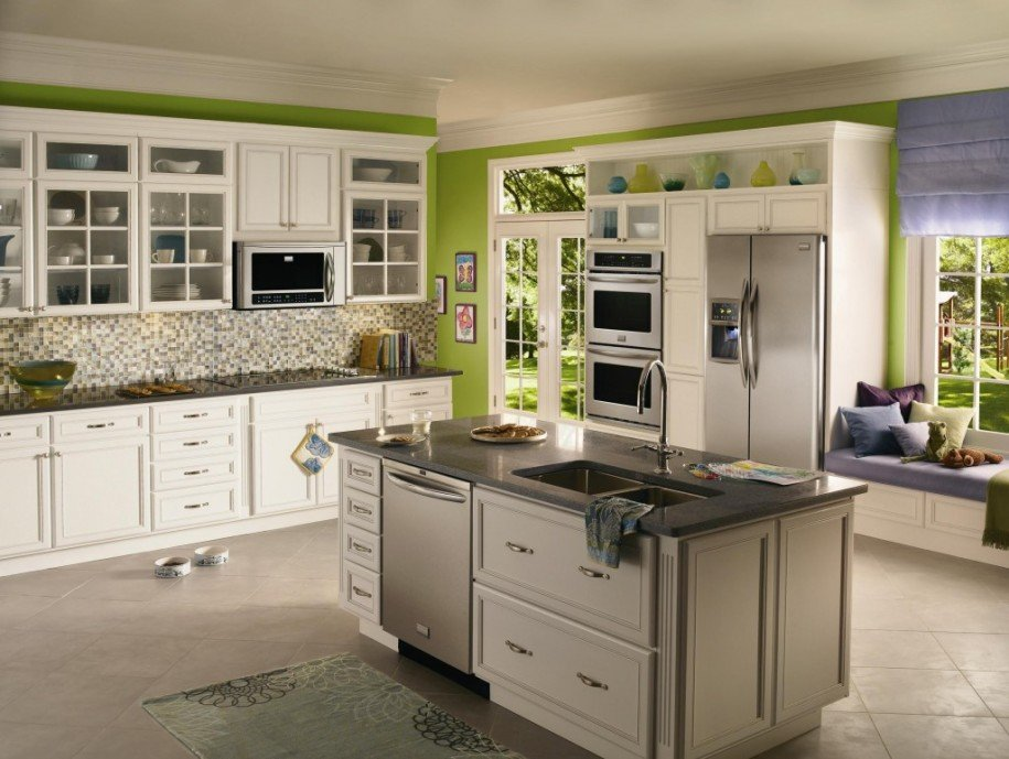 White Kitchen Cabinets written piece which is arranged within Kitchen