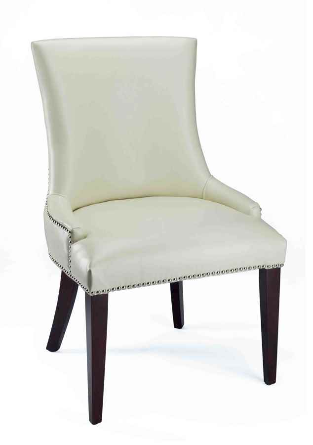 White Leather Dining Room Chairs Home Furniture Design