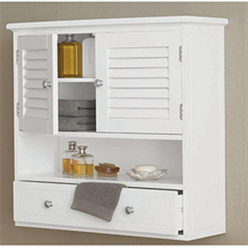 White wall cabinet for bathroom home furniture design for Bathroom storage cabinet