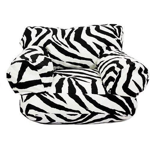 Zebra Print Bean Bag Chair Home Furniture Design