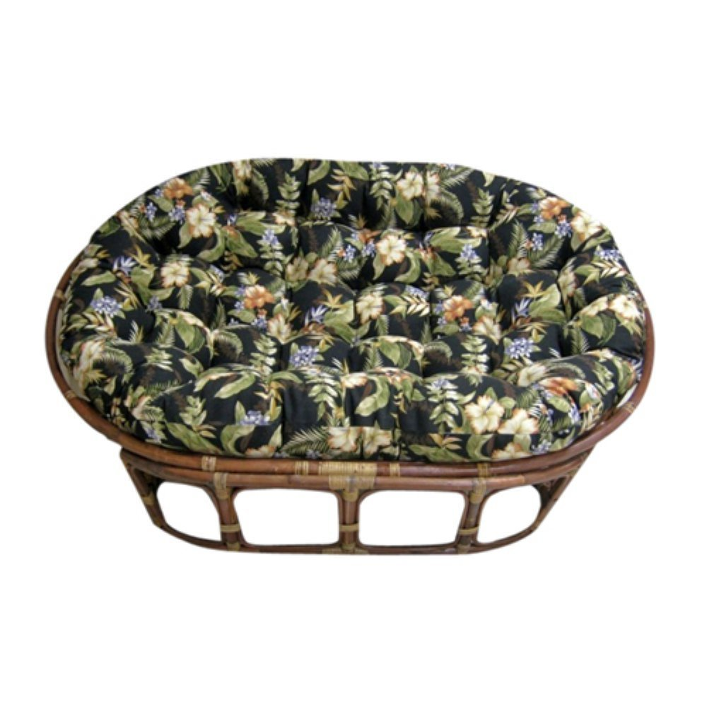 Double papasan chair cushion home furniture design for Large papasan chair