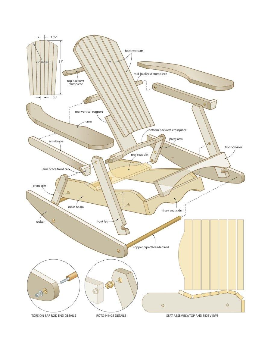 adirondack rocking chair plans free home furniture design. Black Bedroom Furniture Sets. Home Design Ideas