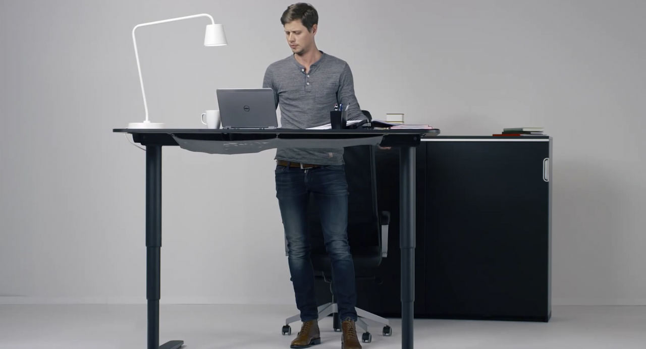 Adjustable standing desk ikea home furniture design for Standing desk at home