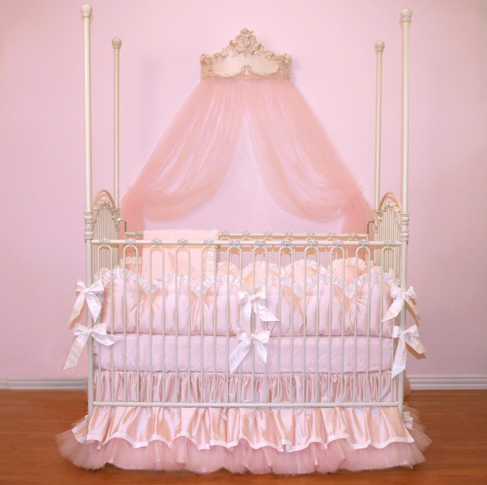 Angel Themed Design For A Baby Girl S Nursery: Baby Girl Crib Bedding Sets Pink