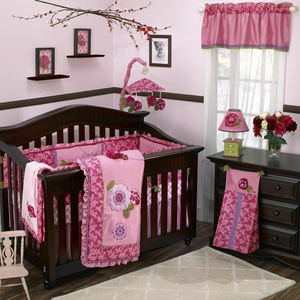 Baby girl crib bedding sets for your little angel for Best baby cribs for small spaces