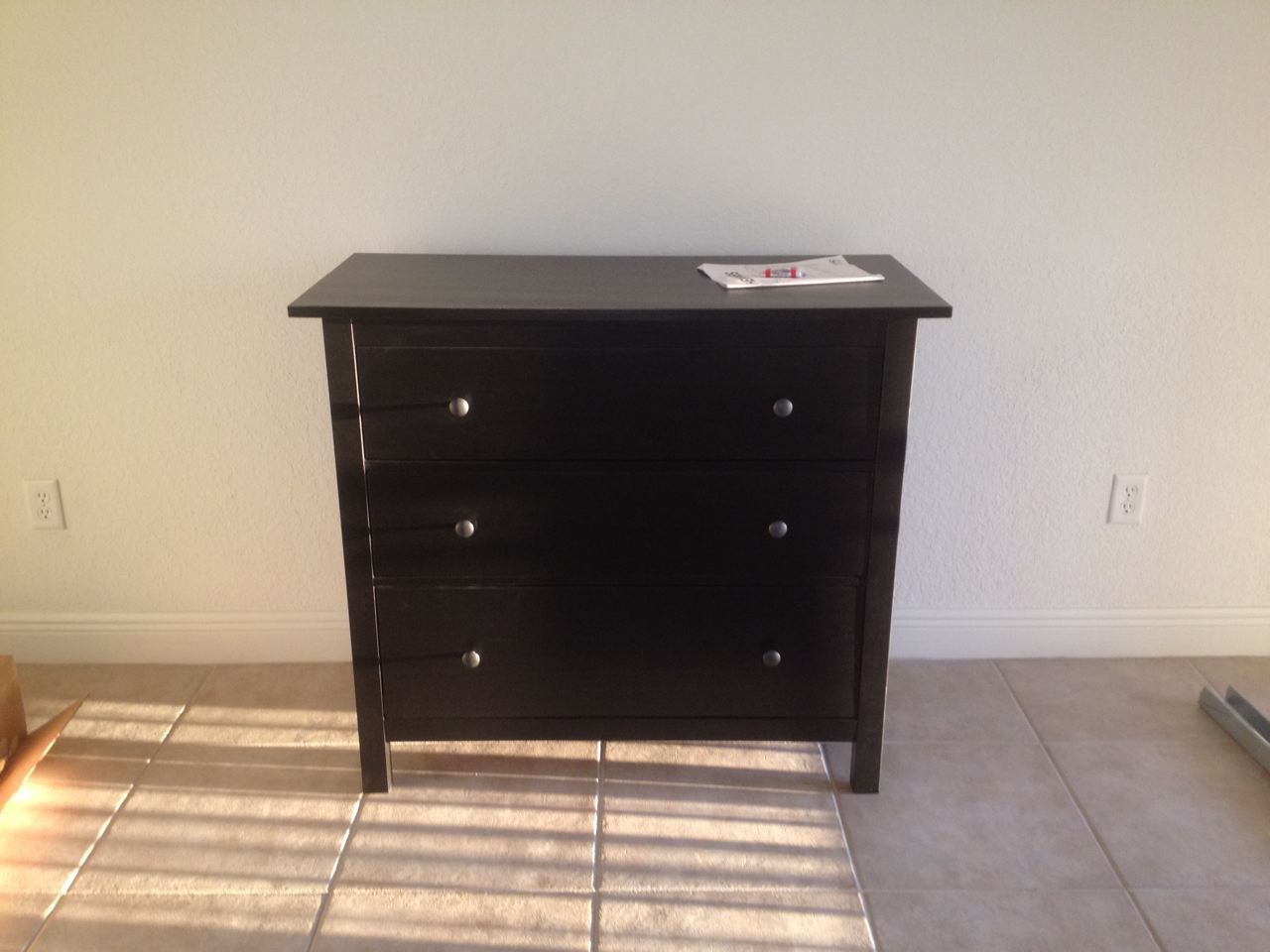 black 3 drawer dresser home furniture design