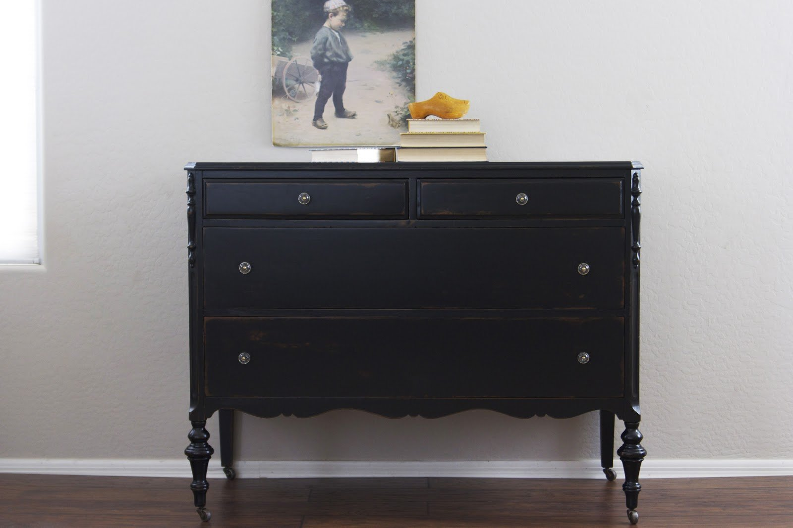 black 4 drawer dresser home furniture design