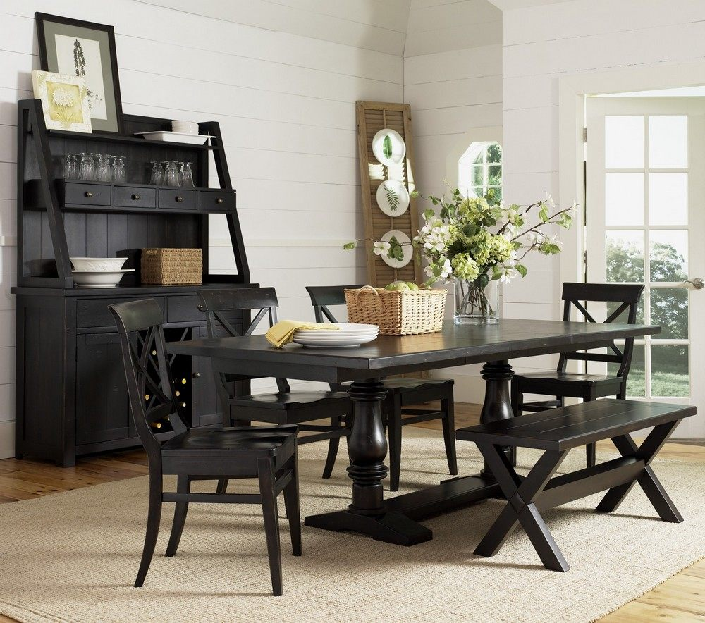 black wood dining room chairs home furniture design. Black Bedroom Furniture Sets. Home Design Ideas